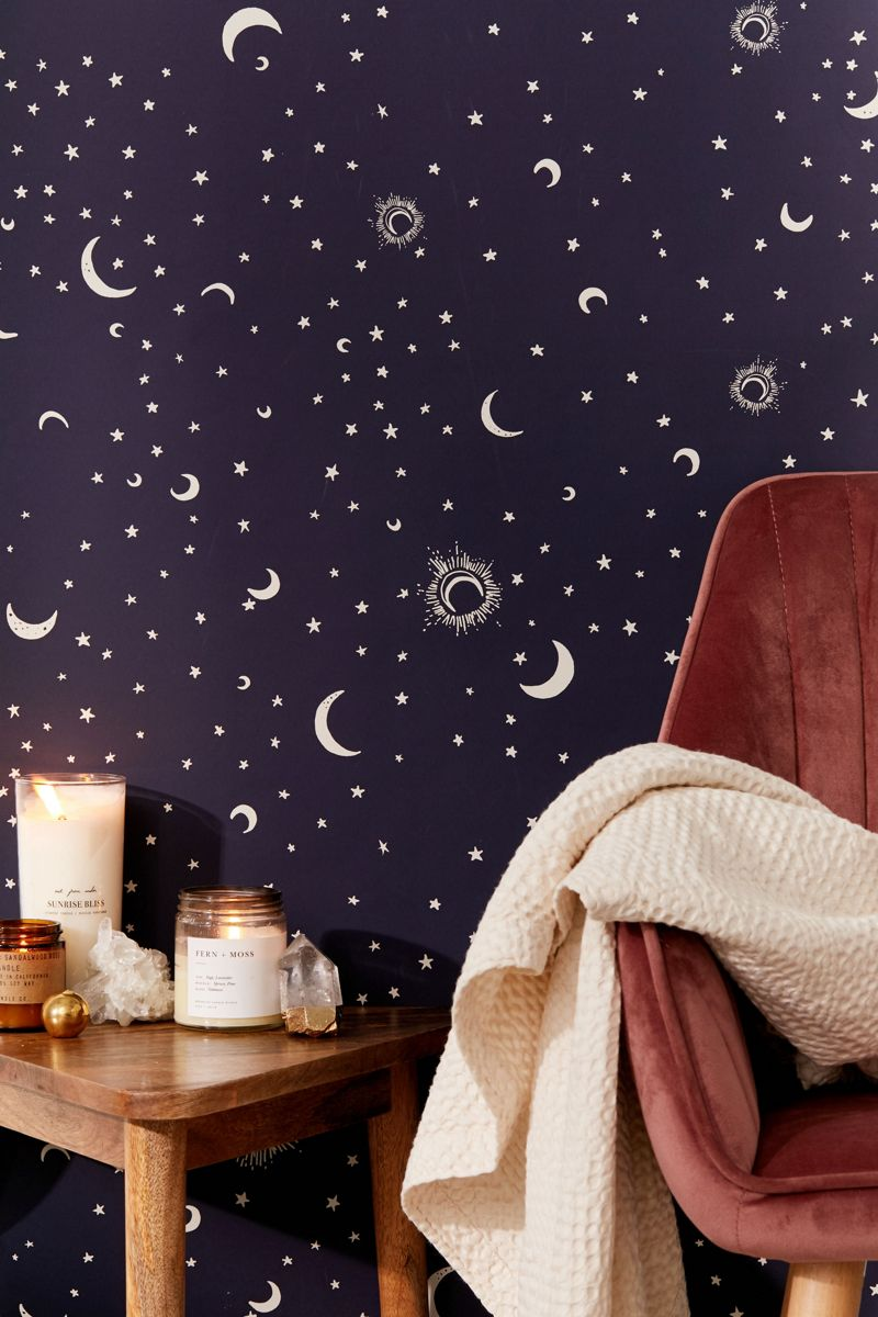 Celestial removable wallpaper from Urban Outfitters