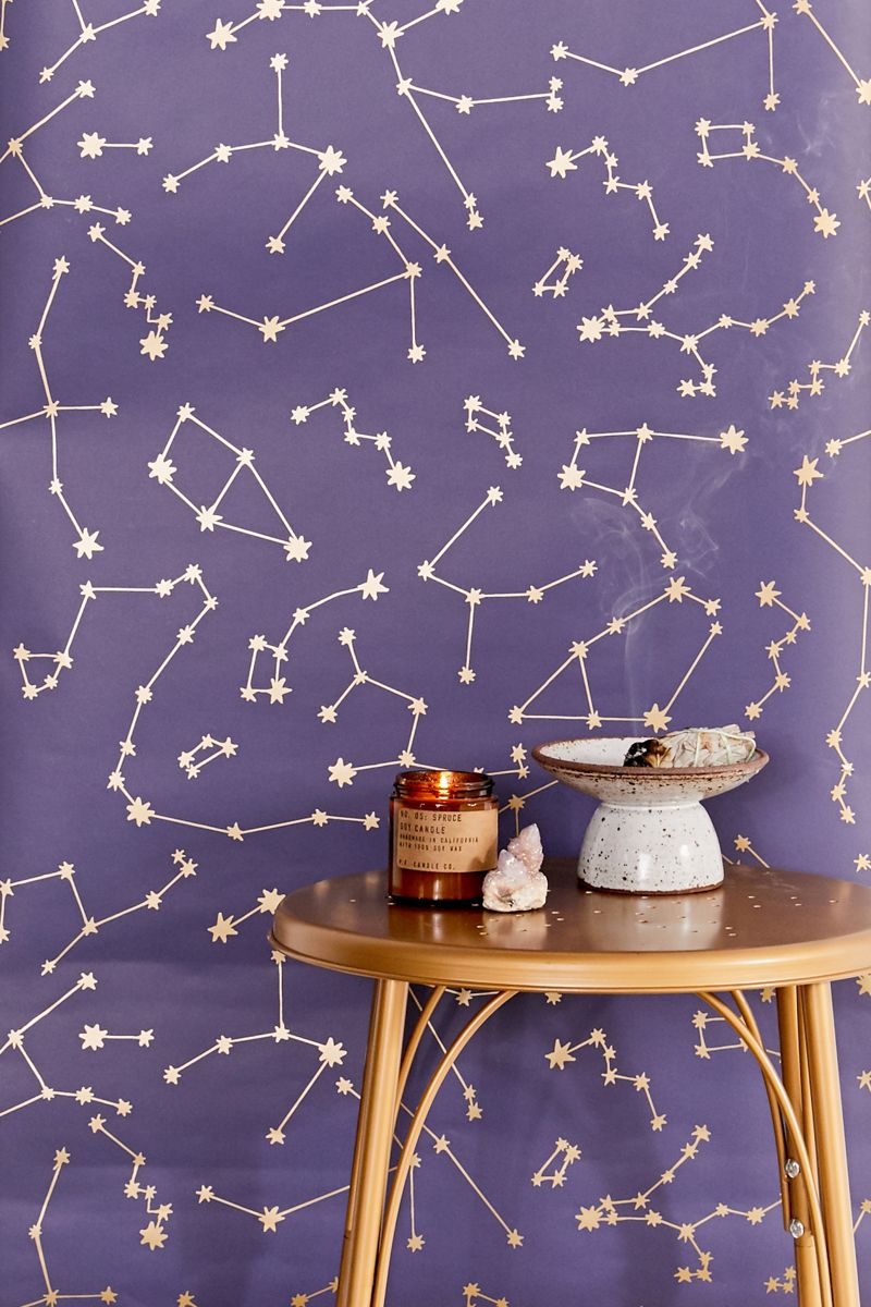 cool purple wallpaper with star constellation pattern
