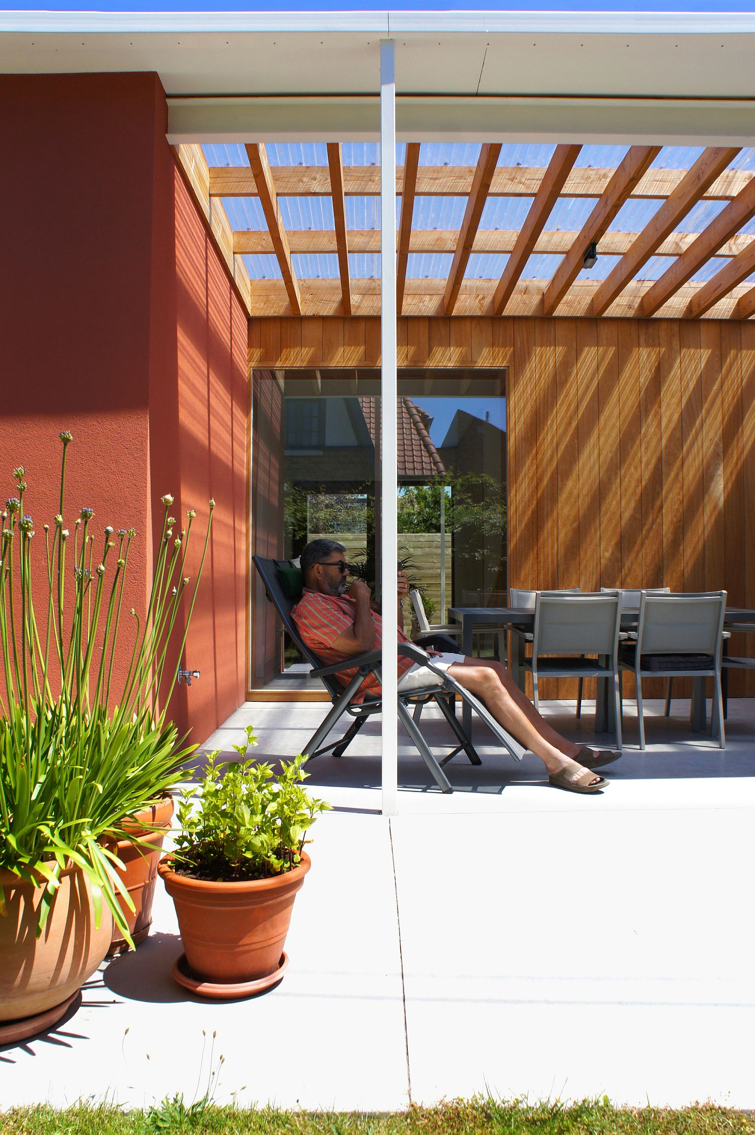 Curated landscape and smart sitting area around the house