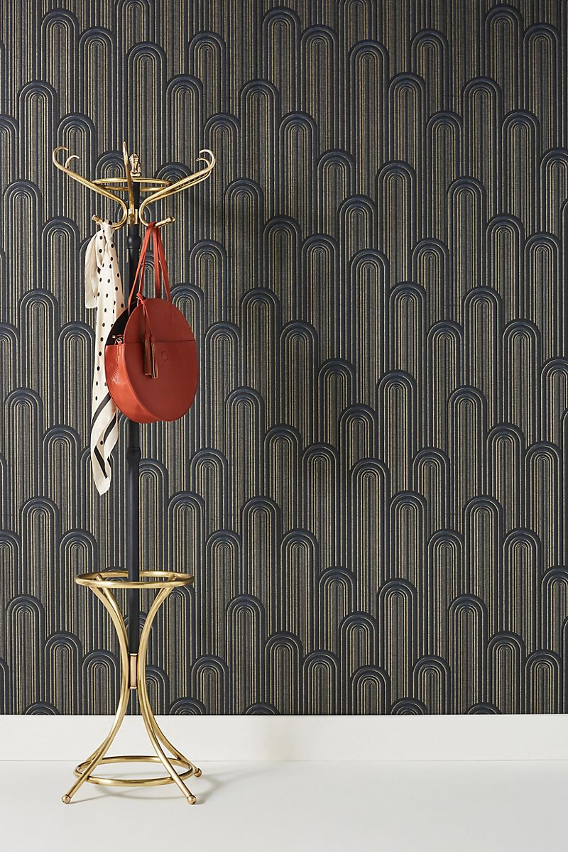 Deco-style wallpaper from Anthropologie