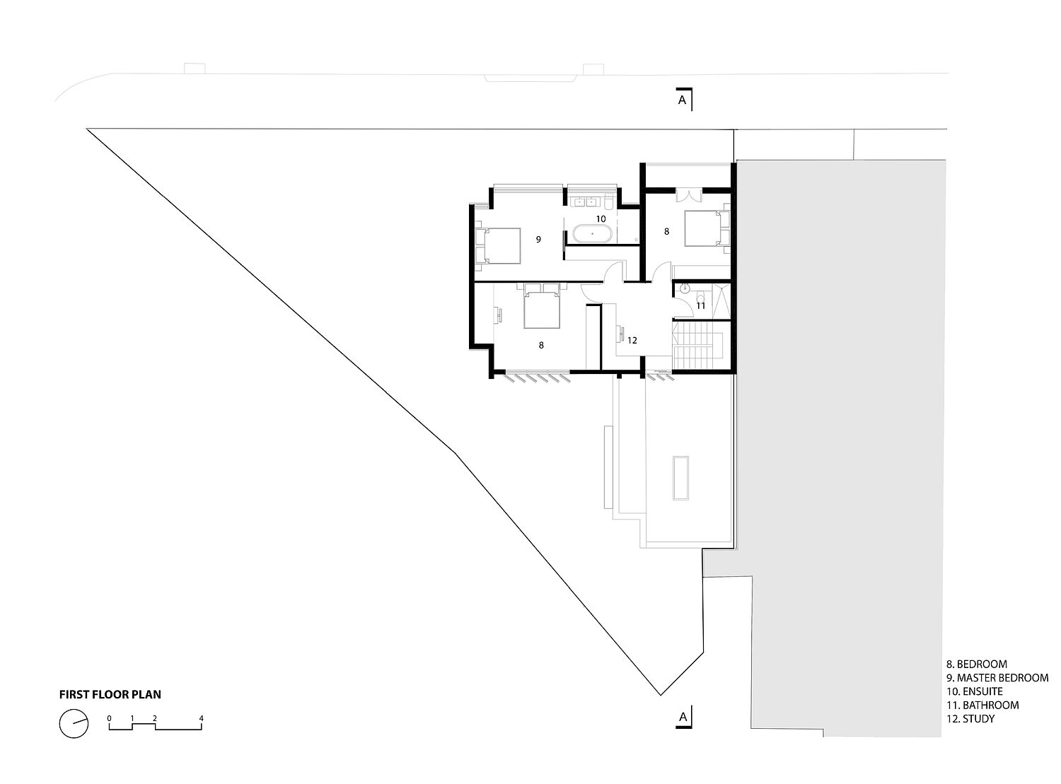 First floor plan of House 2040 in Sydney