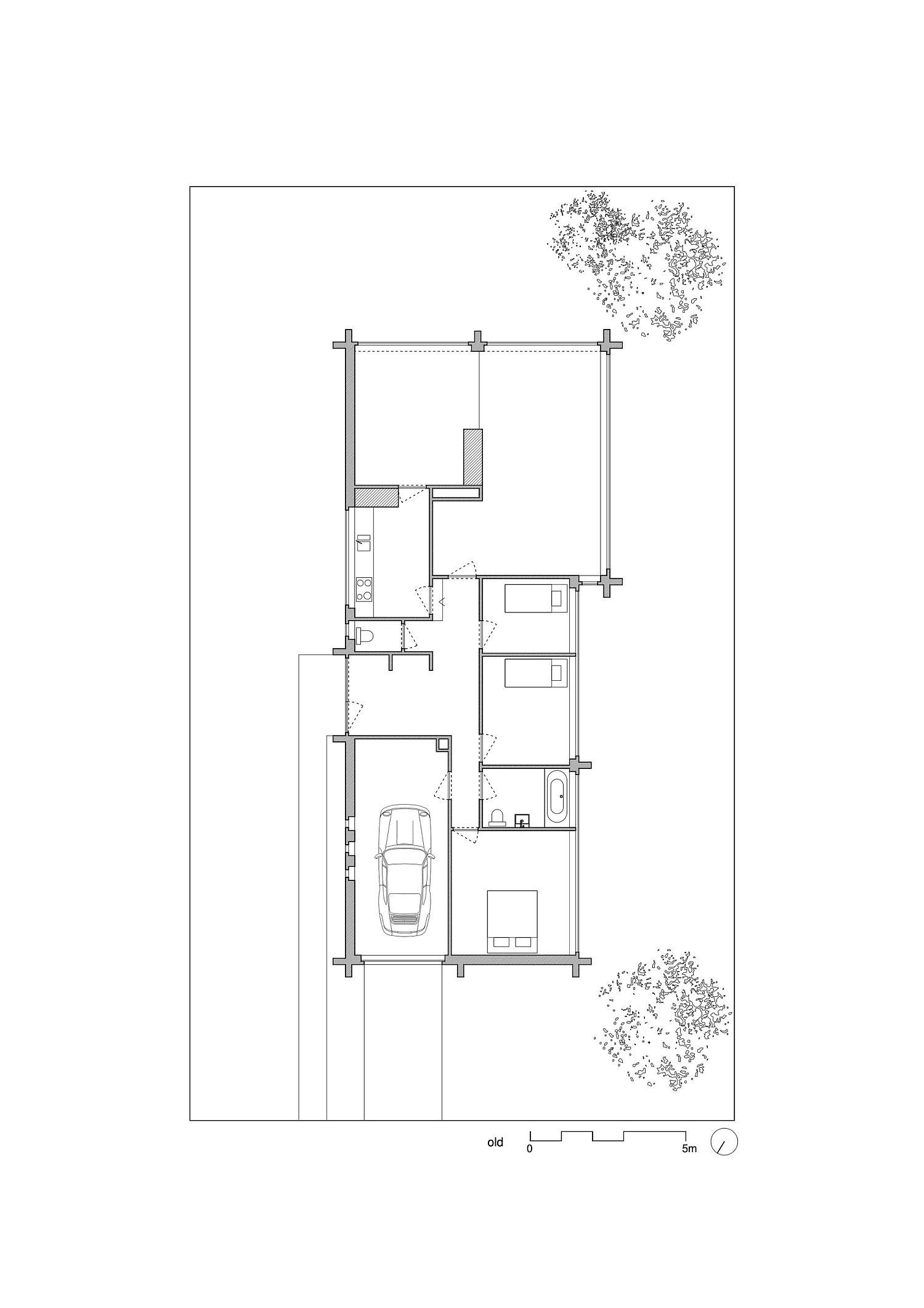 Floor plan of renovated Abdel & Marijke House in Belgium