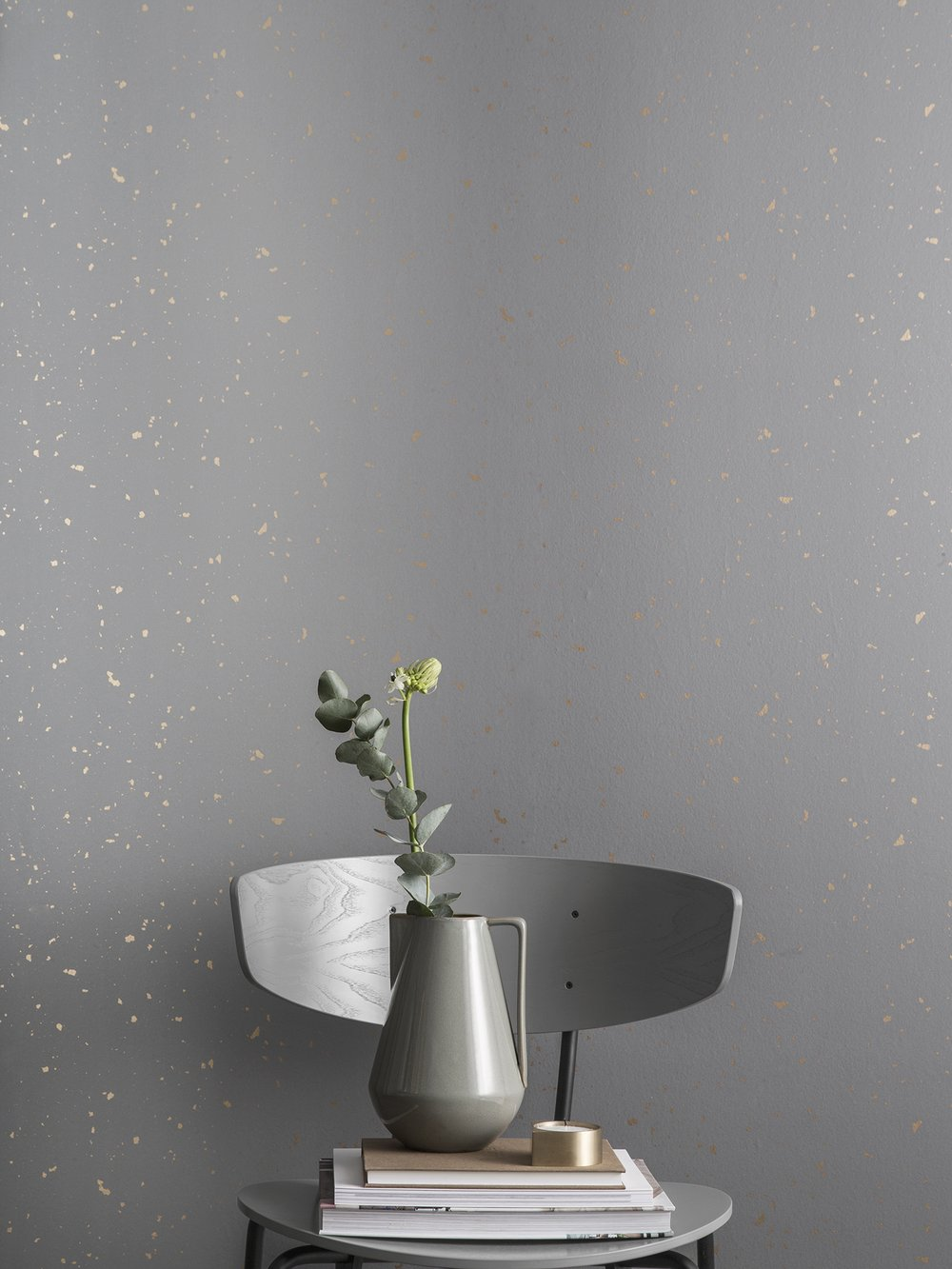 light gray cool wallpaper with gold flecks