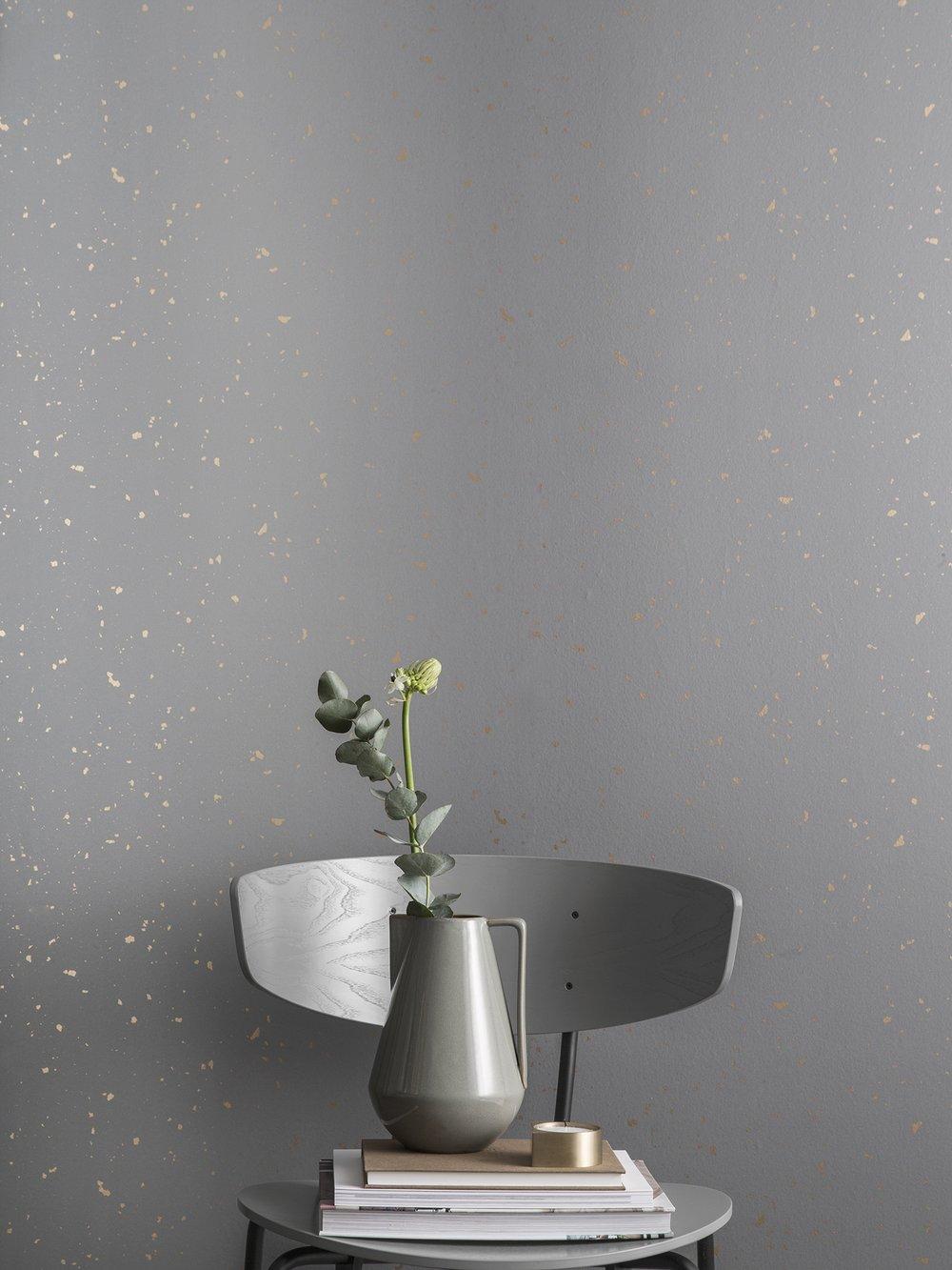 light gray cool wallpaper with gold flecks