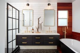 Dark and Brass: 15 Rooms that Showcase a Glitzy, Dashing Trend