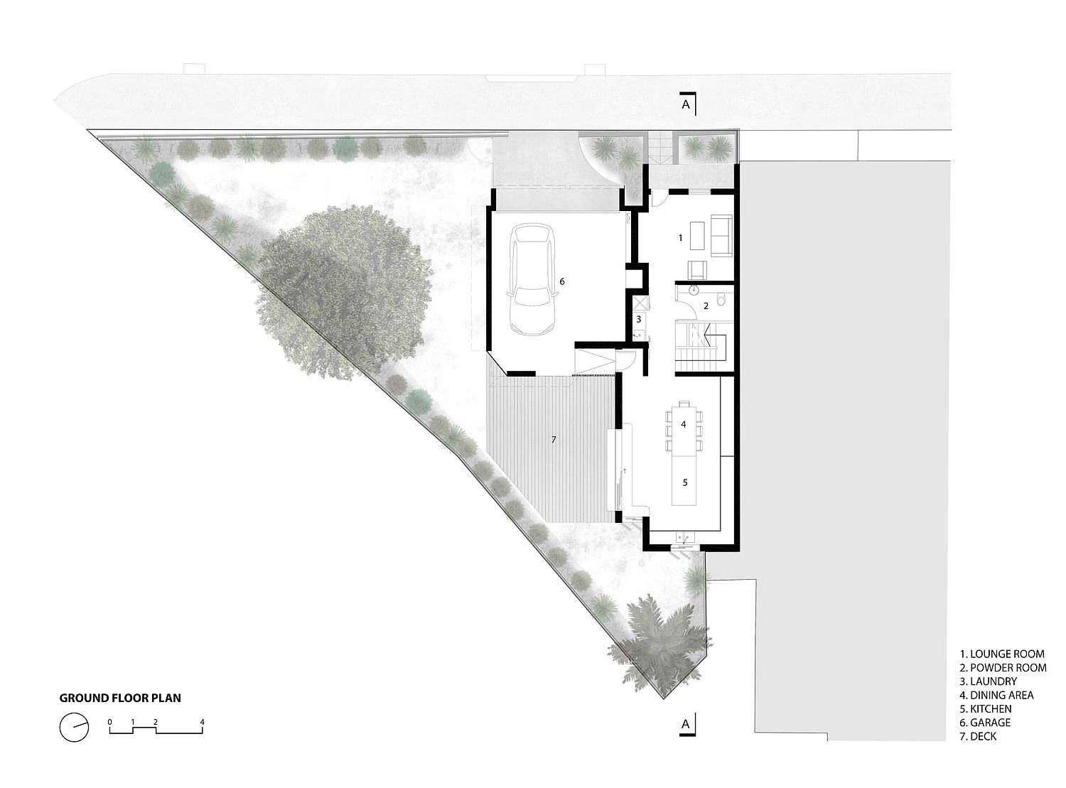 Ground floor plan of the House 2040