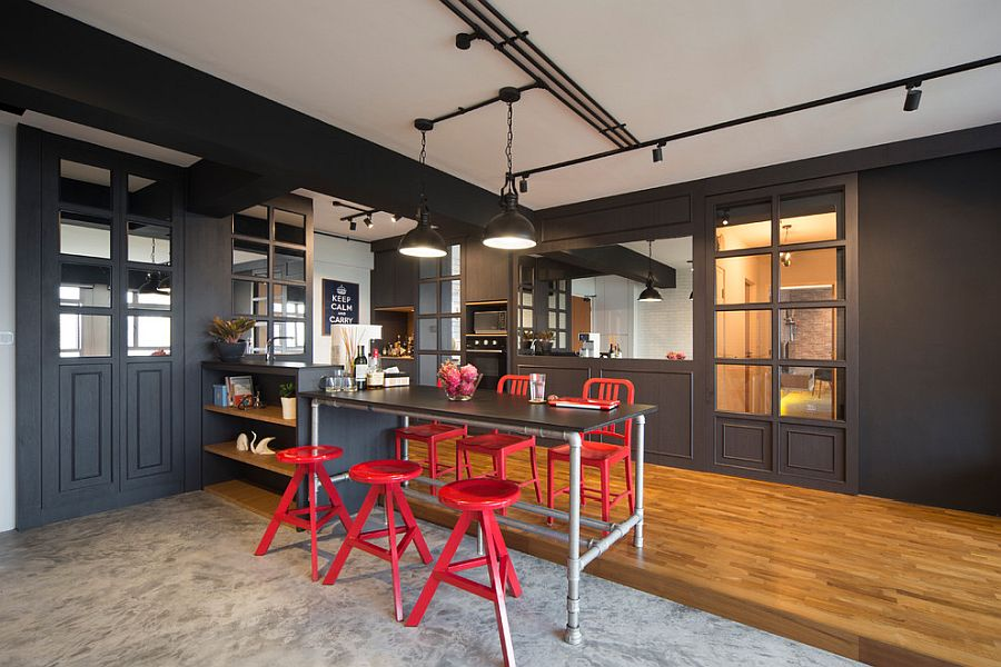 Industrial-Parisian-style-of-the-smart-kitchen-in-Singapore
