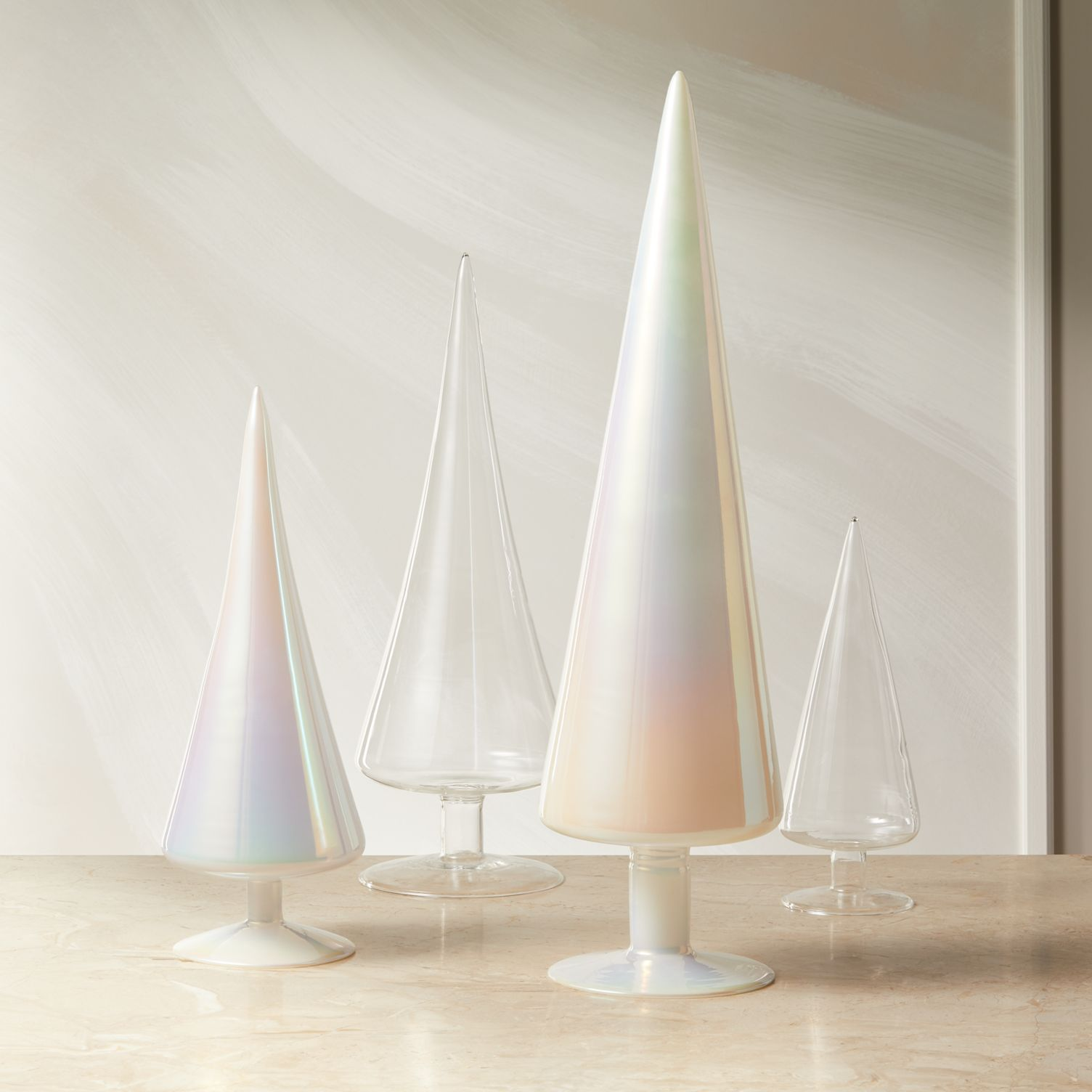 Iridescent modern Christmas trees