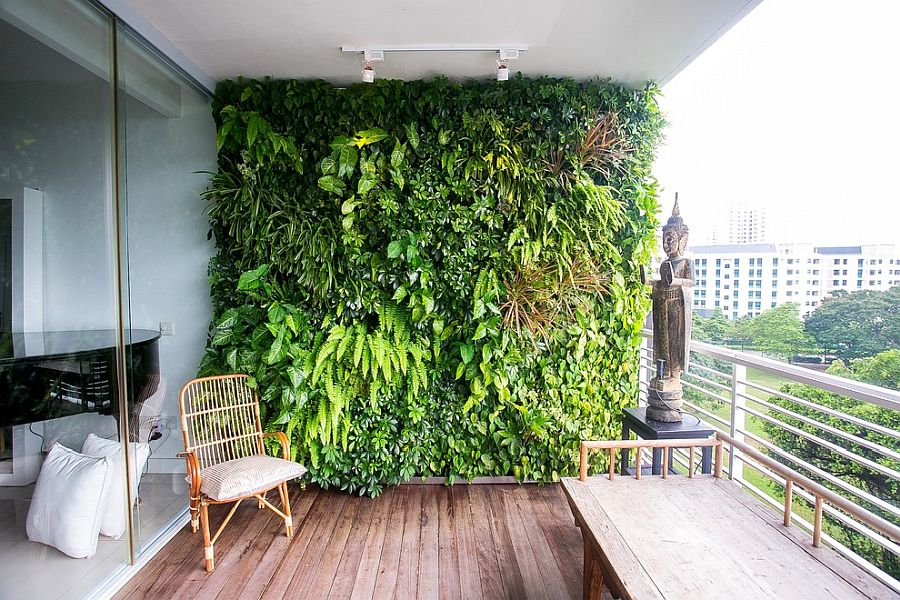 Living wall is a space-savvy way to add greenery to the small urban gallery