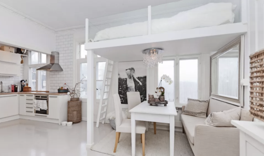 Loft Bed Built with an invisible railing