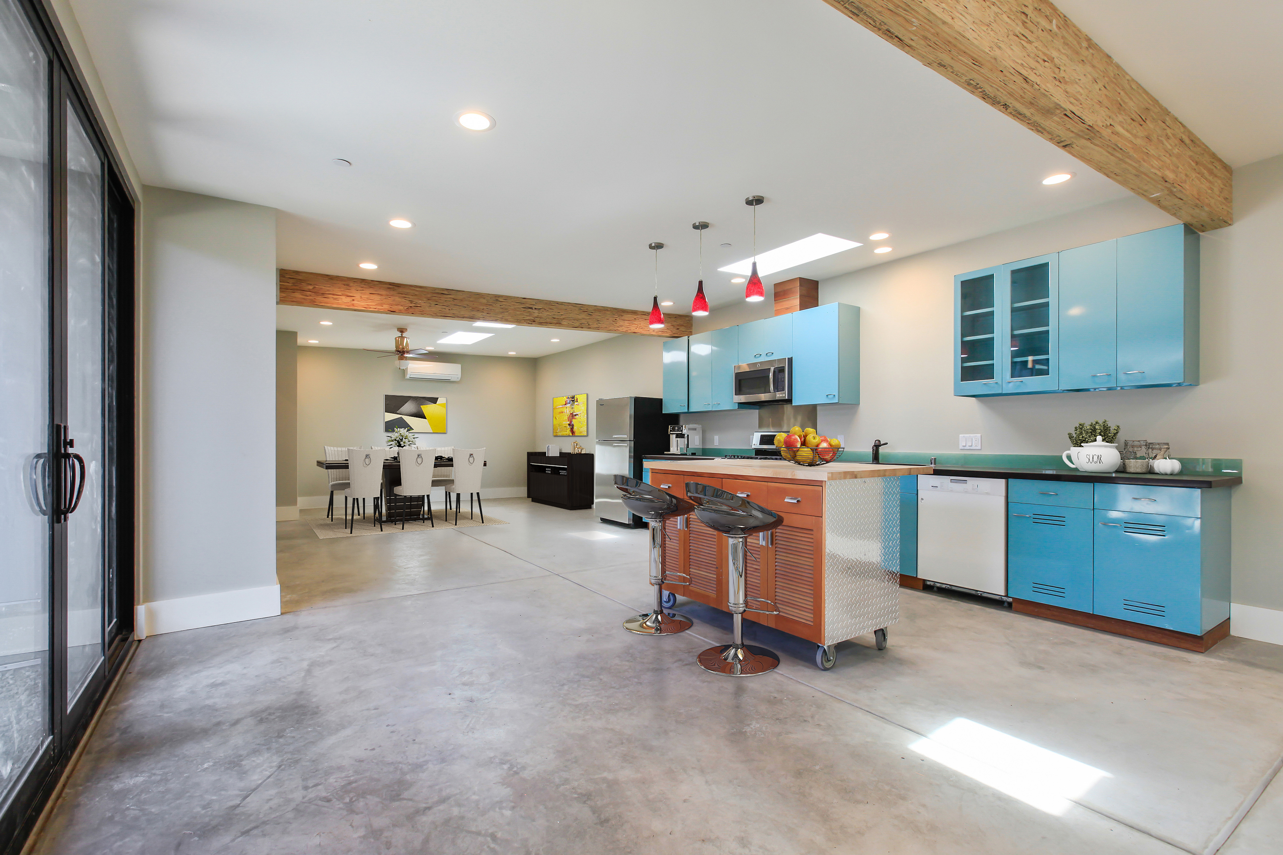Magnolia Firehouse Kitchen View with Industry Design