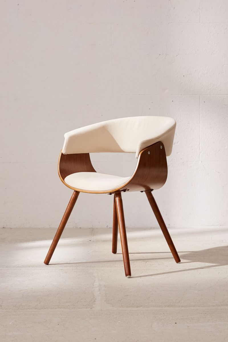 Midcentury-style wooden chair