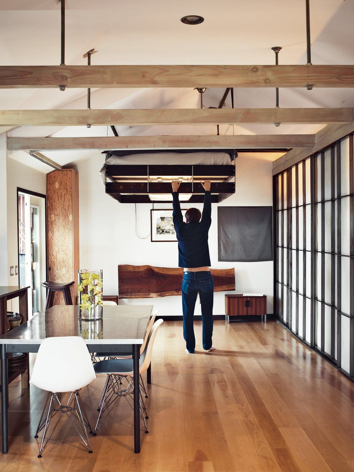 Pull-down-bed-Loft-Design-Small-Space