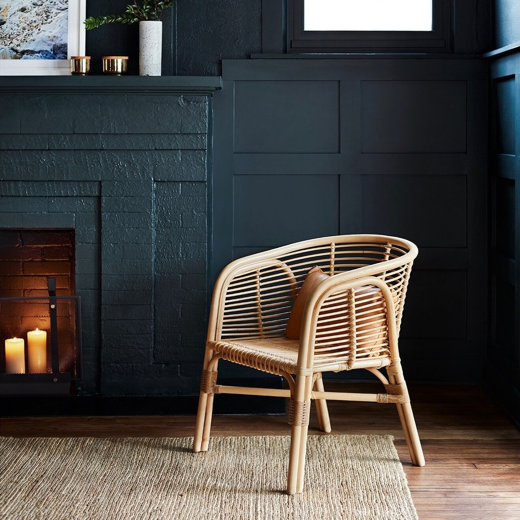 Rattan accent chair from The Citizenry