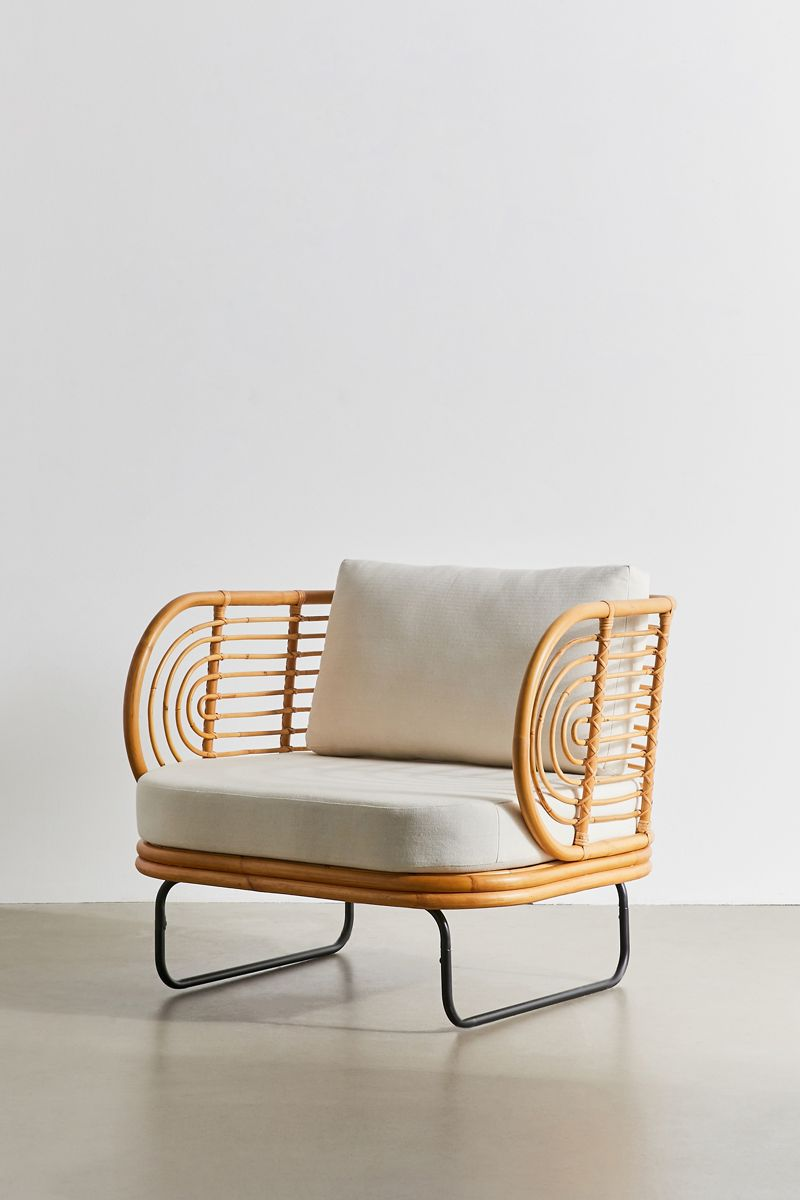 Rattan-frame chair from Urban Outfitters