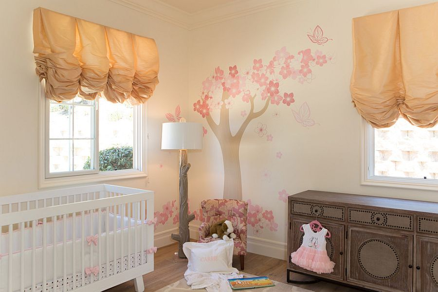 Relaxing meiterranean nursery with whimsical charm