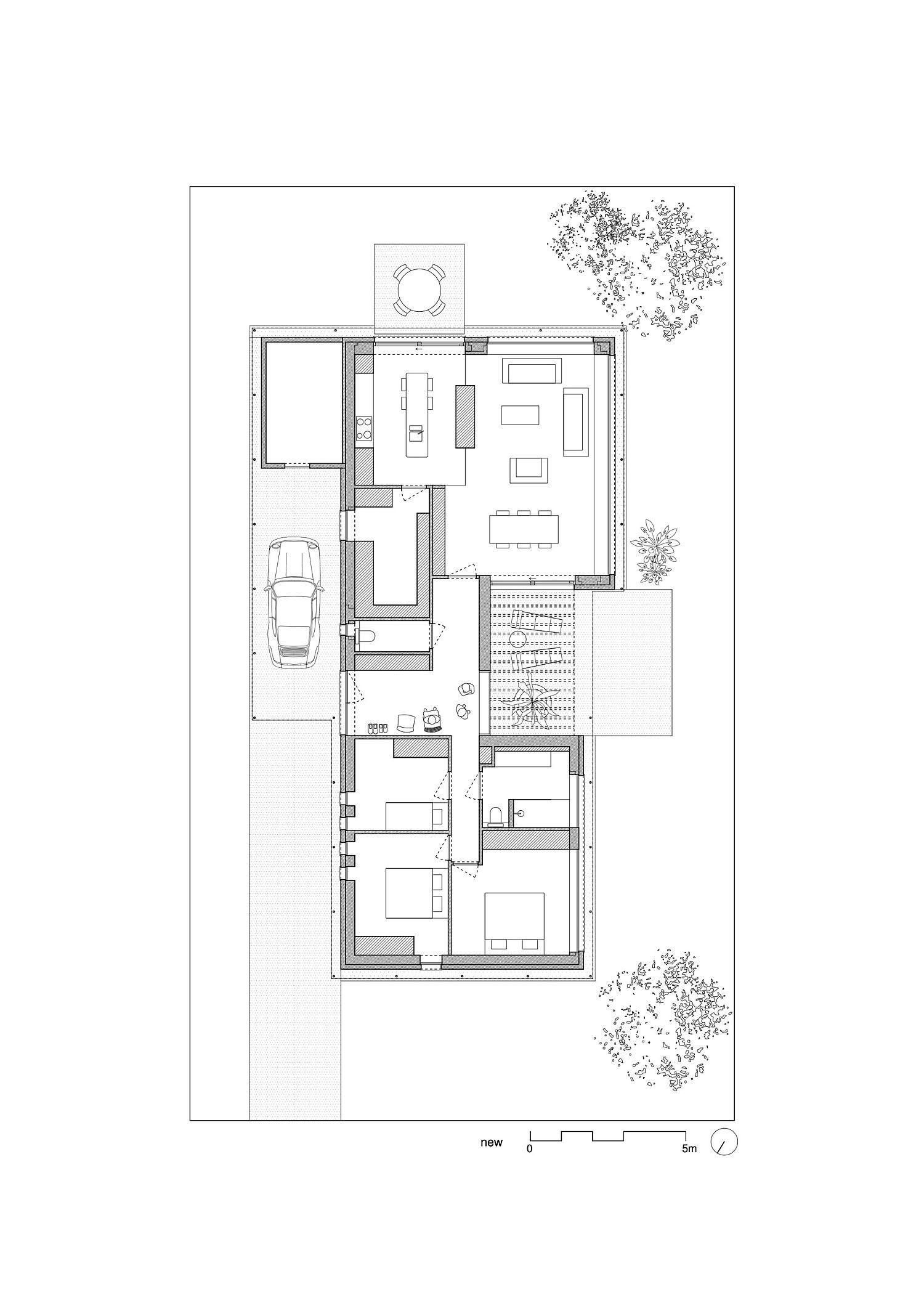 Revamped floor plan of the Abdel & Marijke House