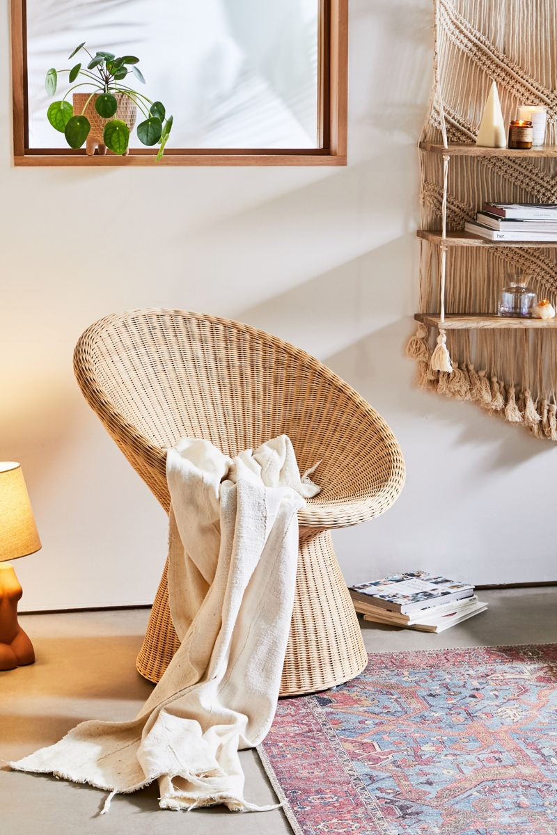 Rounded wicker seating from Urban Outfitters