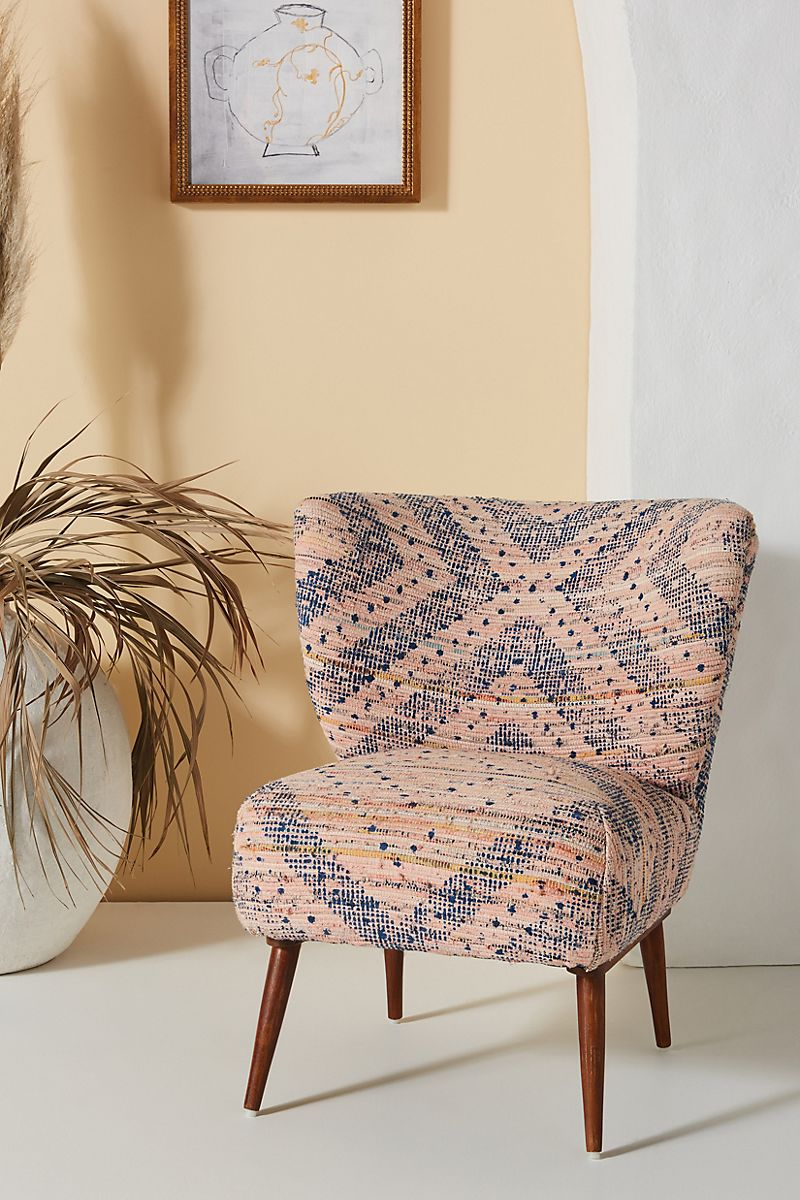 Rug-patterned accent chair
