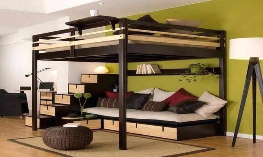 Rustic-modern-wooden-adult-loft-bed-with-sitting-area-870x520