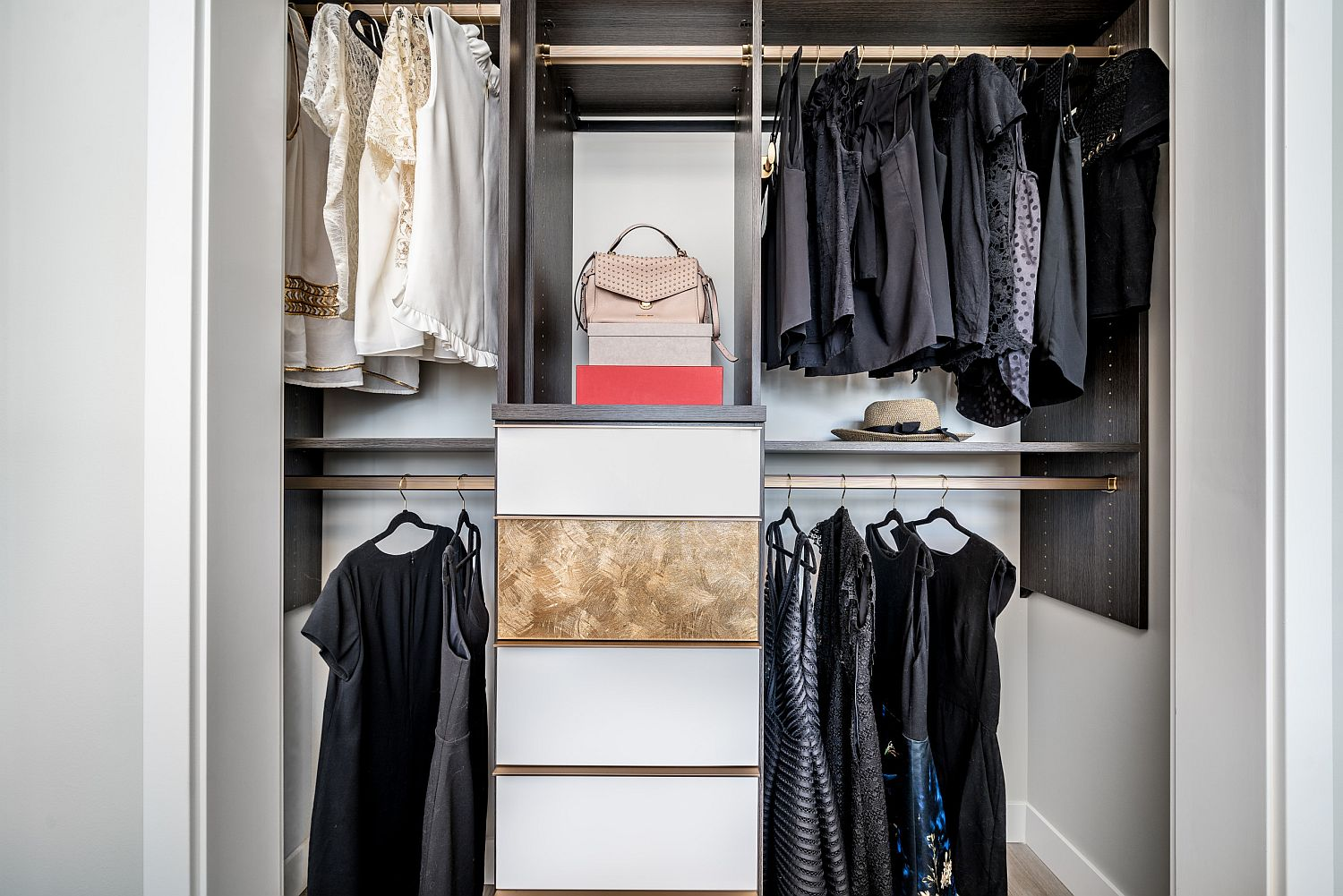 Simple and small closet is a showstopper