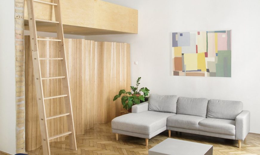 Old Bourgeois Apartment in Budapest Gets a Fresh Makeover in Wood and White