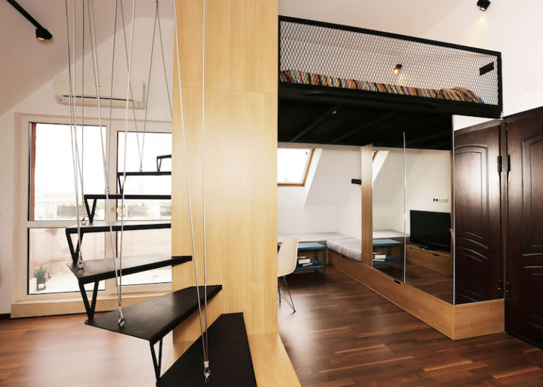 Spiral-Staircase-Loft-Bed