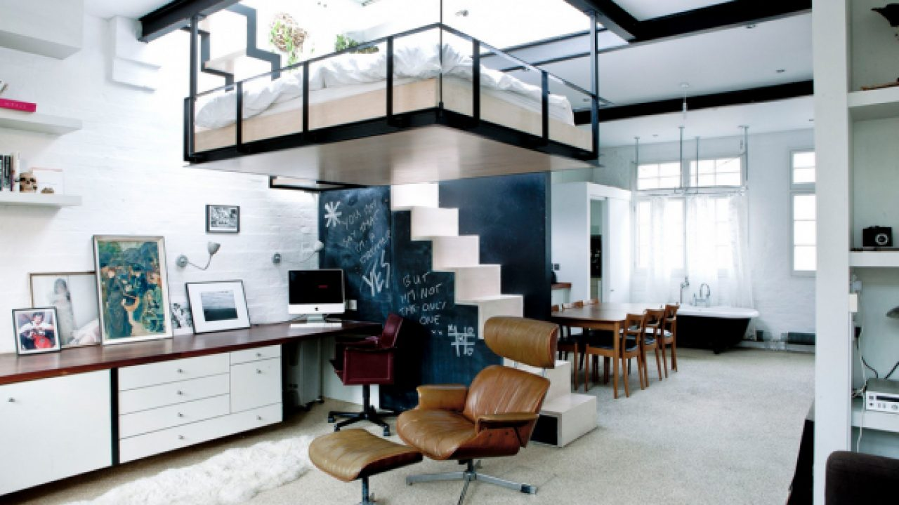 Super-modern-skylight-adult-loft-bed