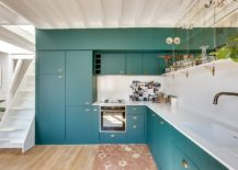 Teal-gives-the-neutral-kitchen-a-whole-new-look-inside-the-white-Paris-apartment-217x155