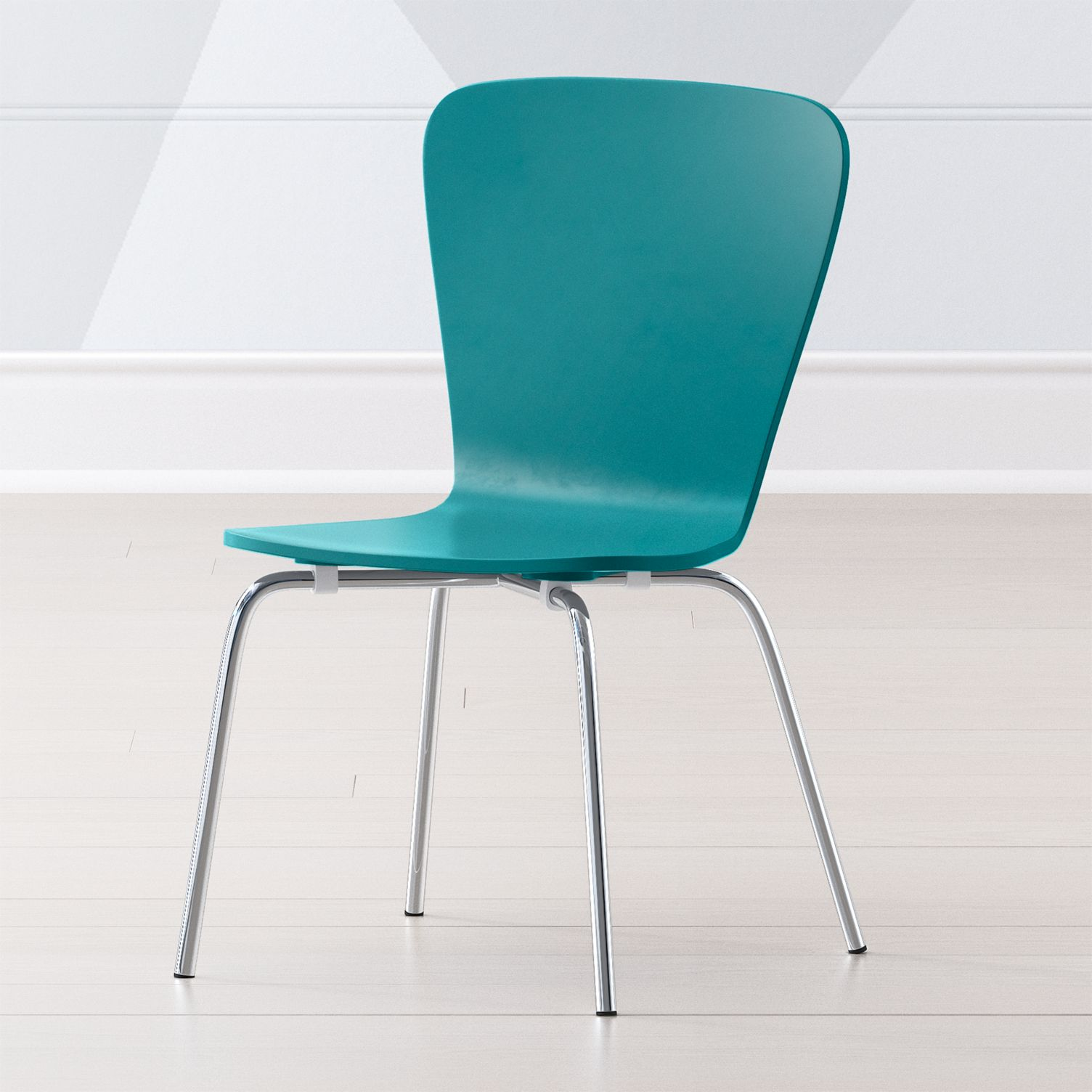Teal modern stackable chairs