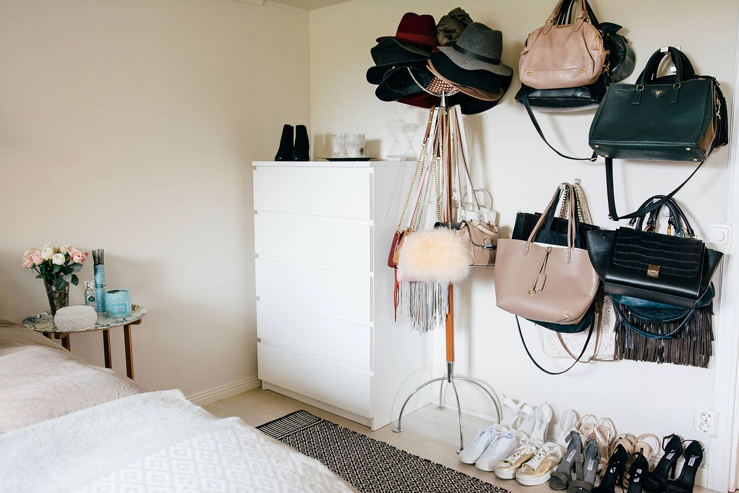 Use-wall-hooks-instead-of-a-traditional-standalone-unit-to-save-space