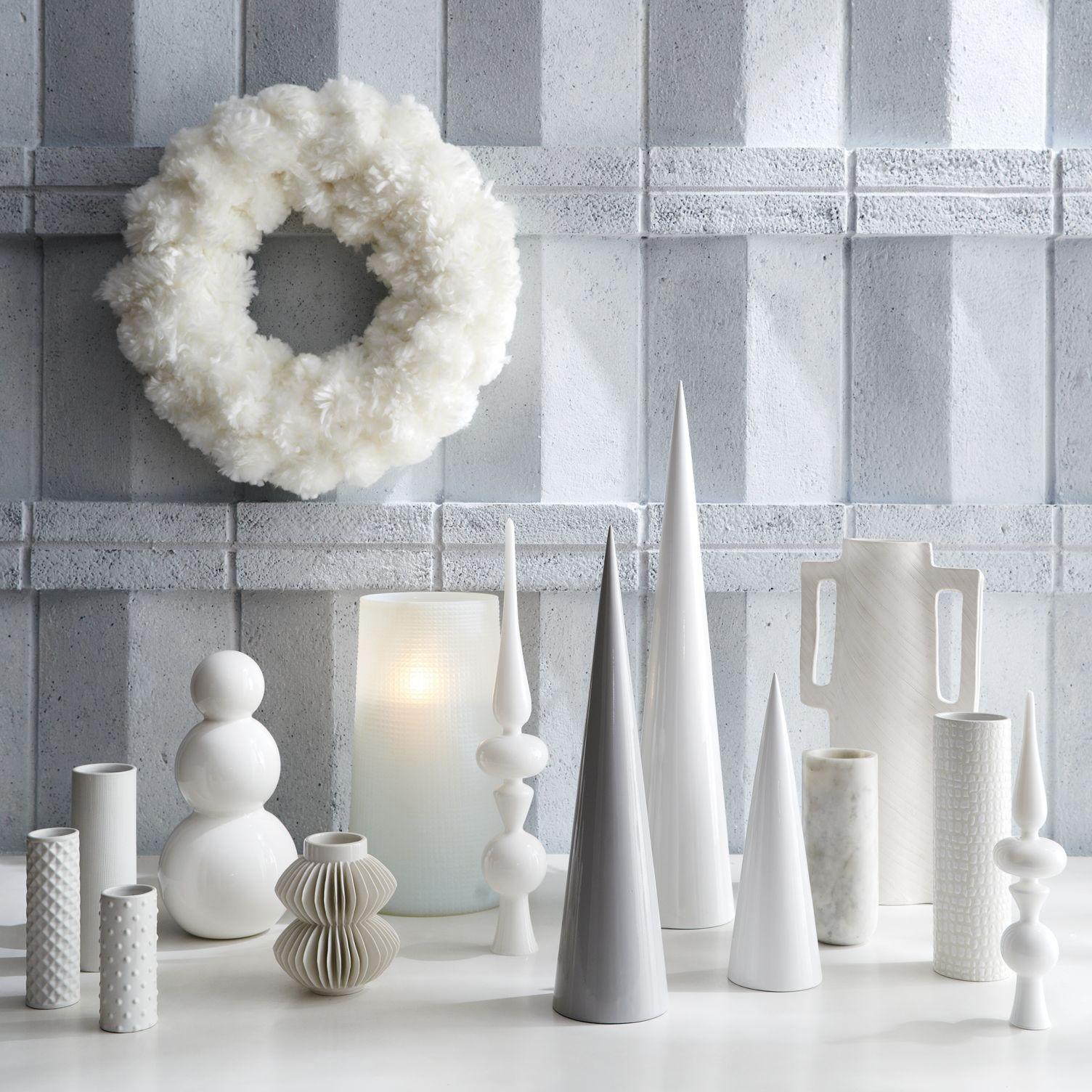 White Christmas decor from CB2