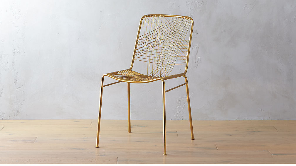 Woven-brass-chair