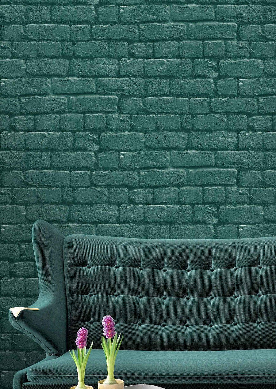 You can even choose from an array of colorful brick wallpaper options out there for a brighter home