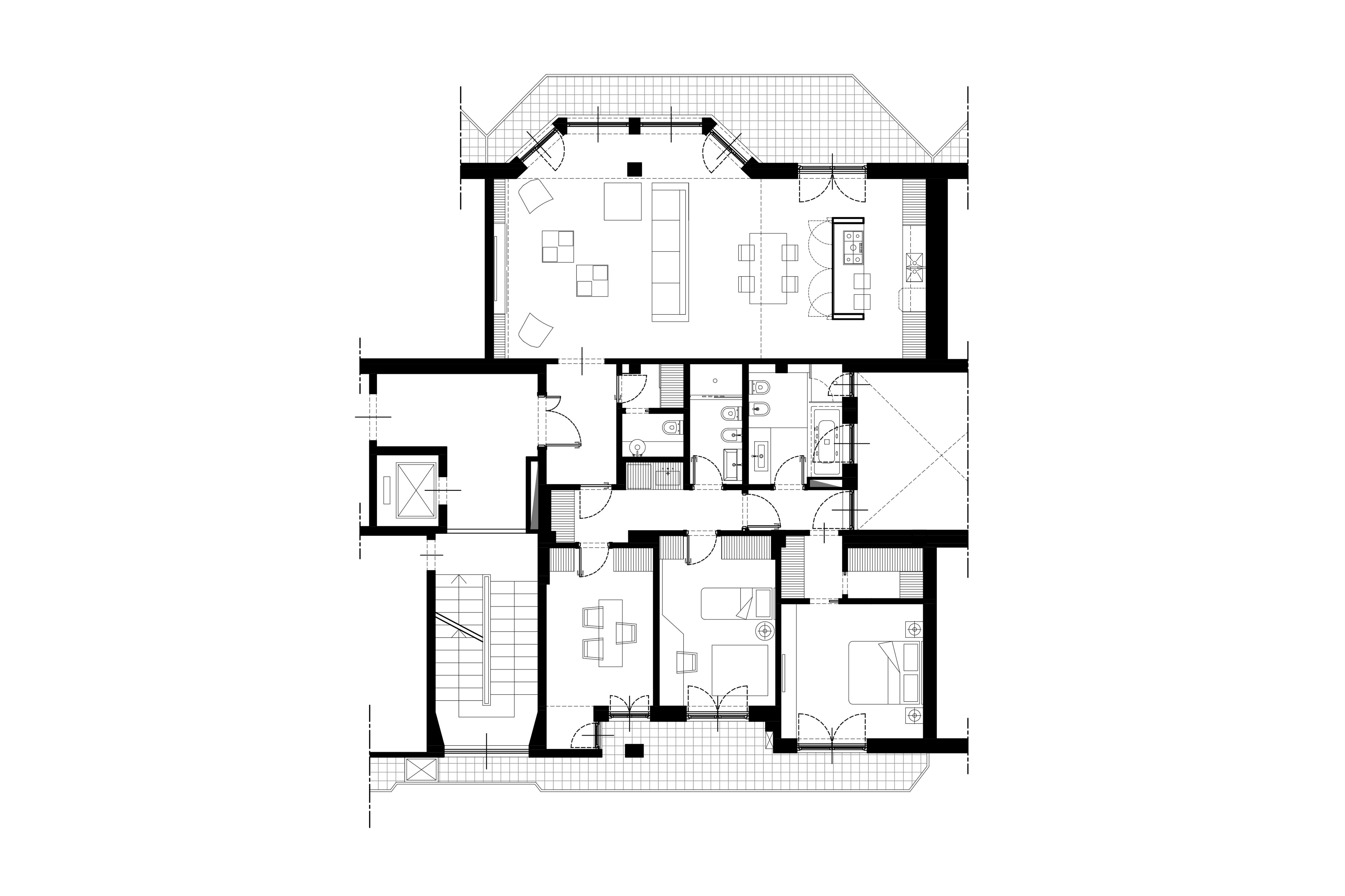 lad bow window house blueprint