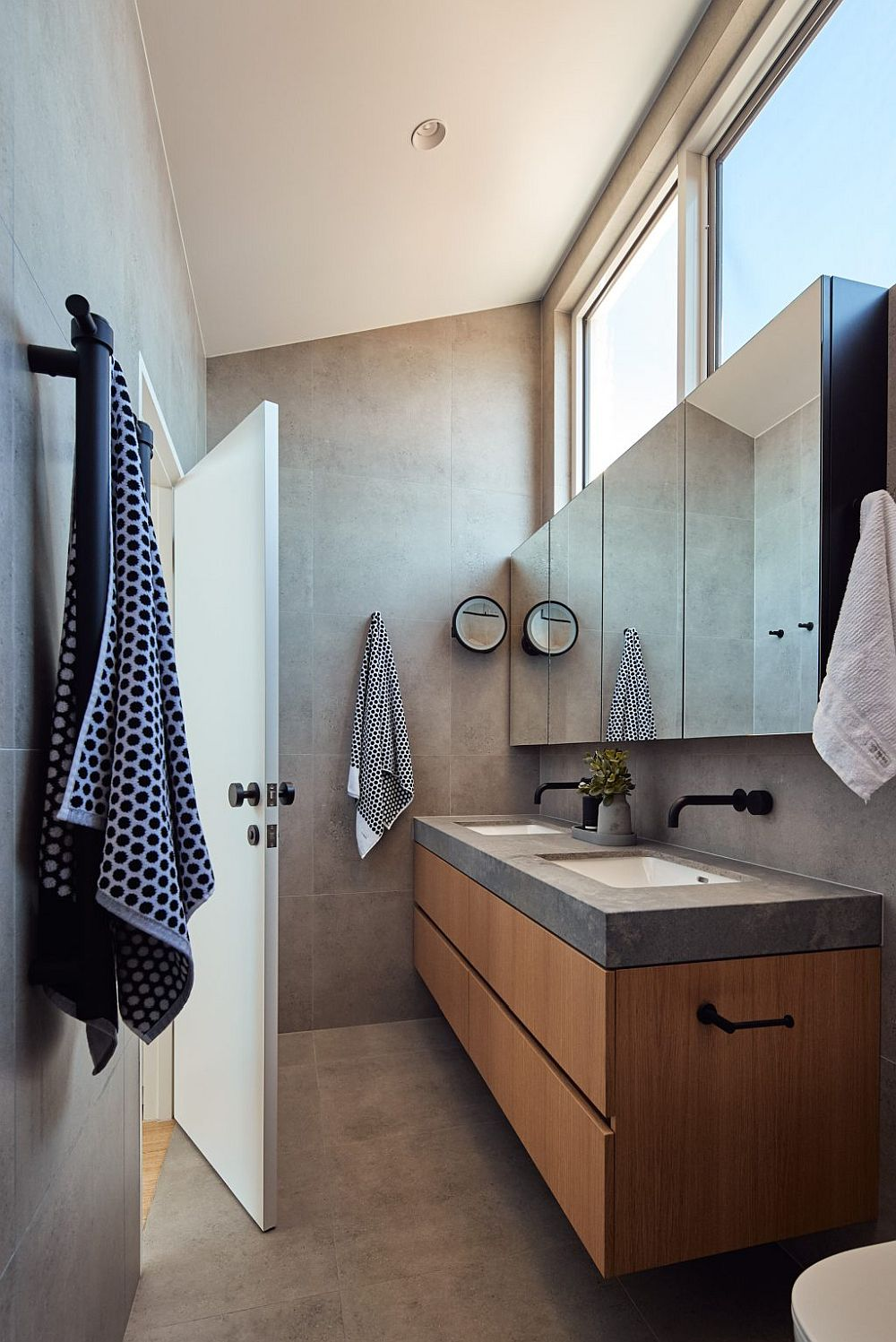 Bathroom of the revamped Cascade House in Australia