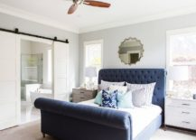 Beautiful-and-comfortable-sleigh-bed-in-dashing-blue-for-the-modern-bedroom-217x155