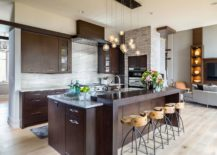 Beautiful-industrial-style-bar-stools-add-a-different-textural-charm-to-this-dark-modern-kitchen-217x155
