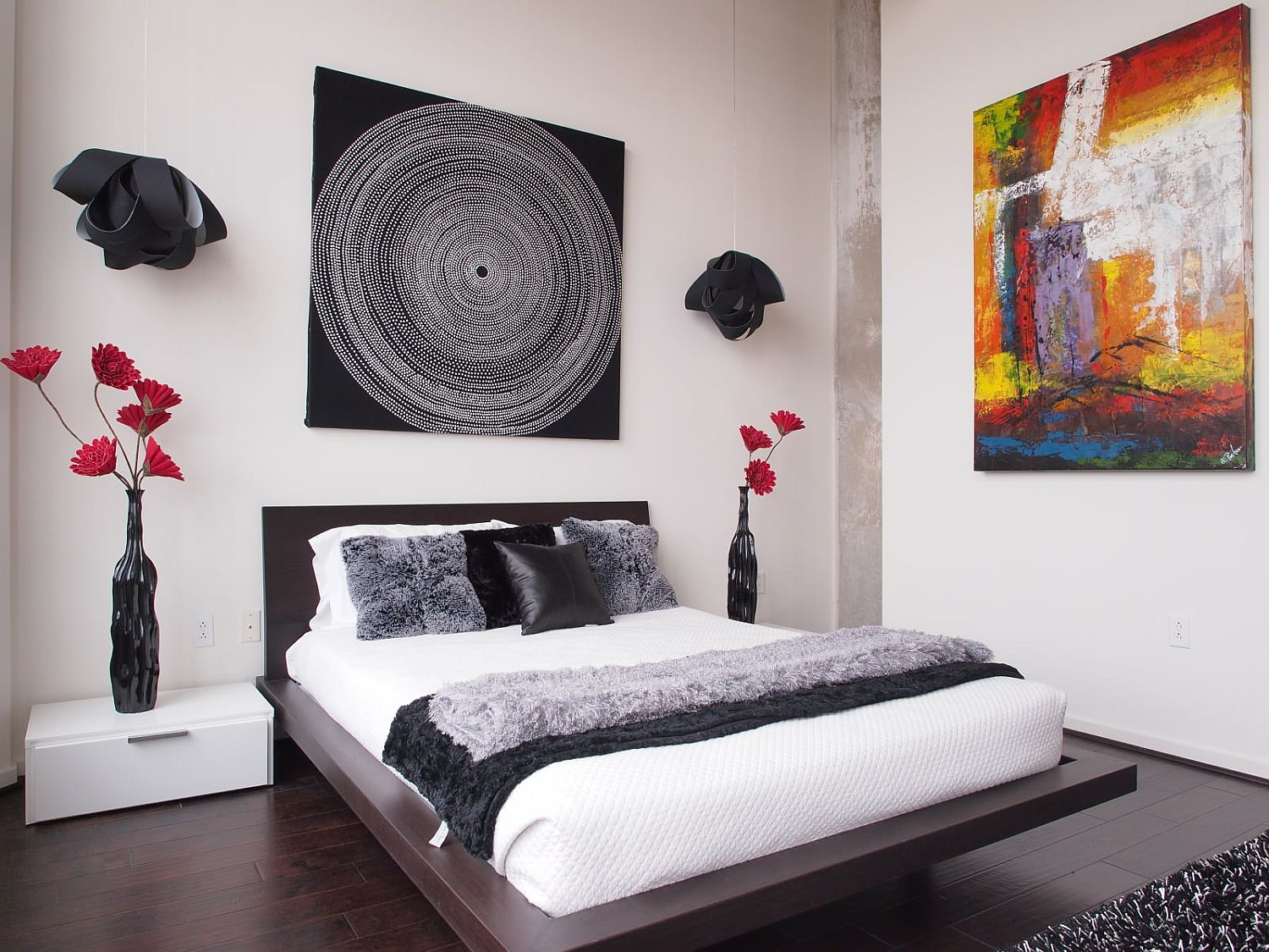Beautiful wall art addition for the modern bedroom in neutral hues