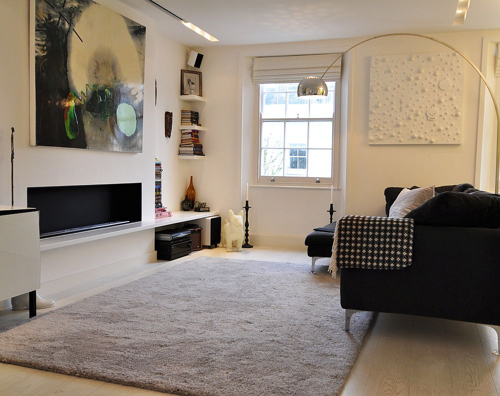 Black-and-white-wall-art-piece-with-a-hint-of-color-for-the-living-room