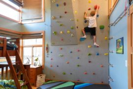 Creative Climbing Walls for the Kids' Rooms: A More Active Home Interior