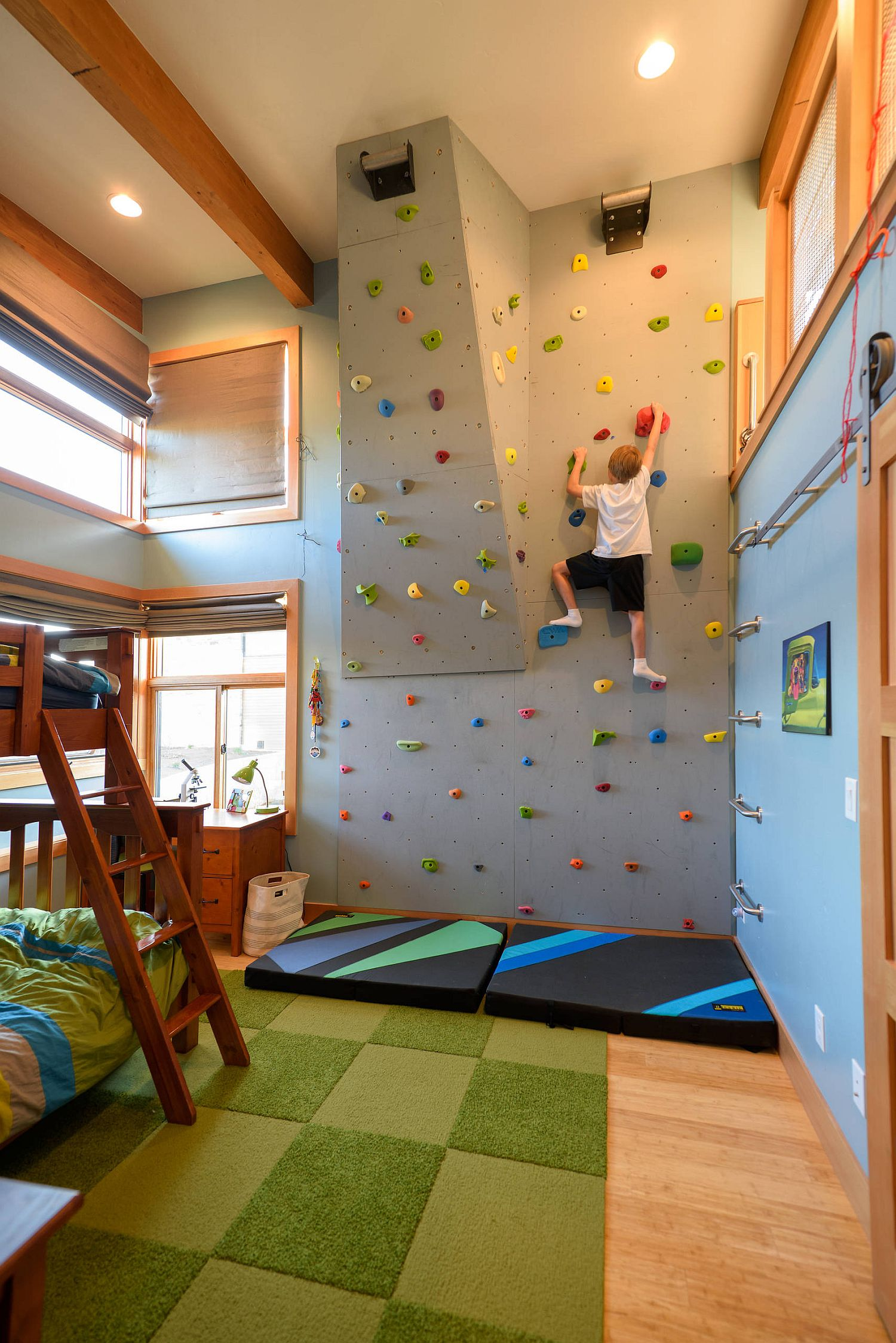 Creative Climbing Walls for the Kids? Rooms: A More Active Home Interior