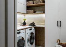 Corner-laundry-design-wih-smart-wooden-shelves-that-offer-ample-shelf-space-217x155