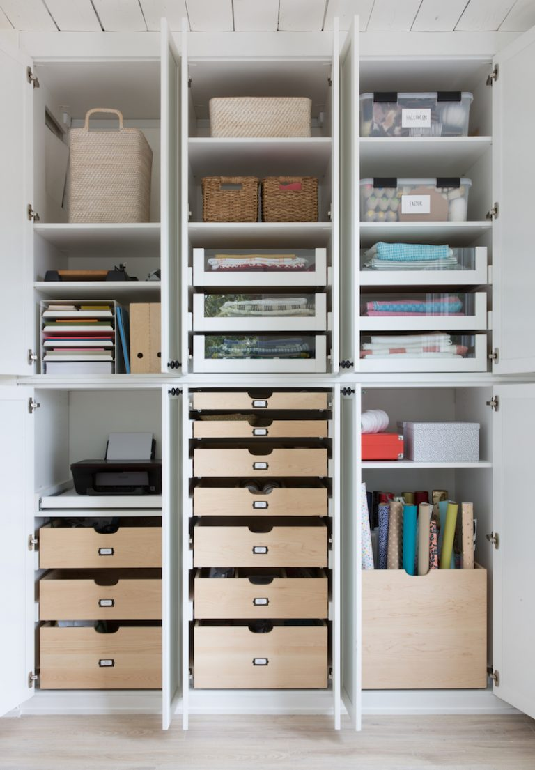 Craft closet designed by California Closets