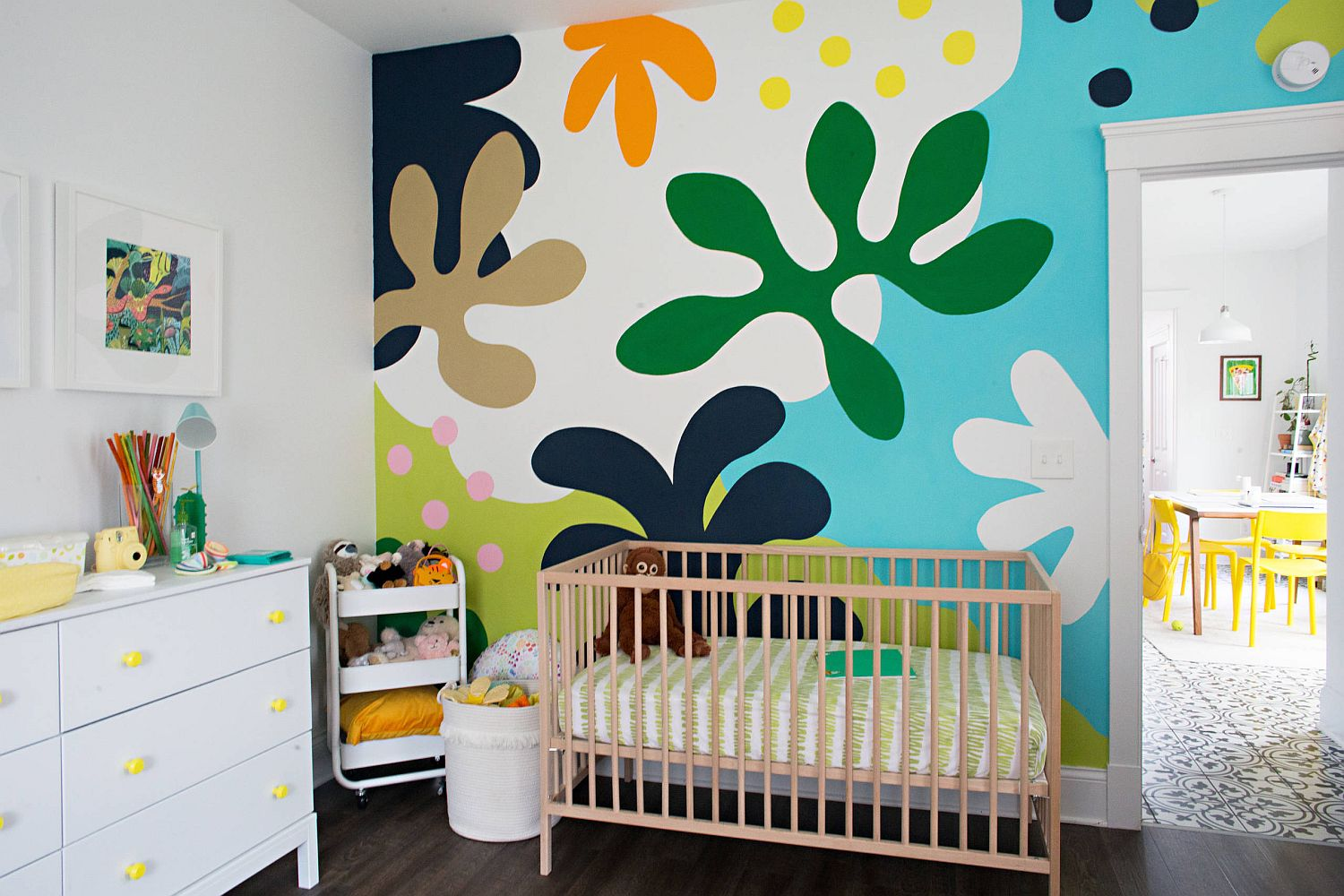Creating a brilliant and vivacious backdrop for the small eclectic nursery