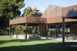 Extensive Corten Steel Structure Brings Outdoor Spaces to Old Spanish Country House