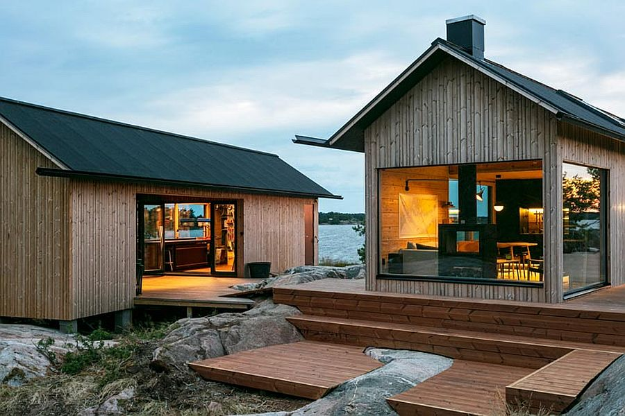Scandinavian Style Contemporary Cabins Combine Awesome Views with Modernity