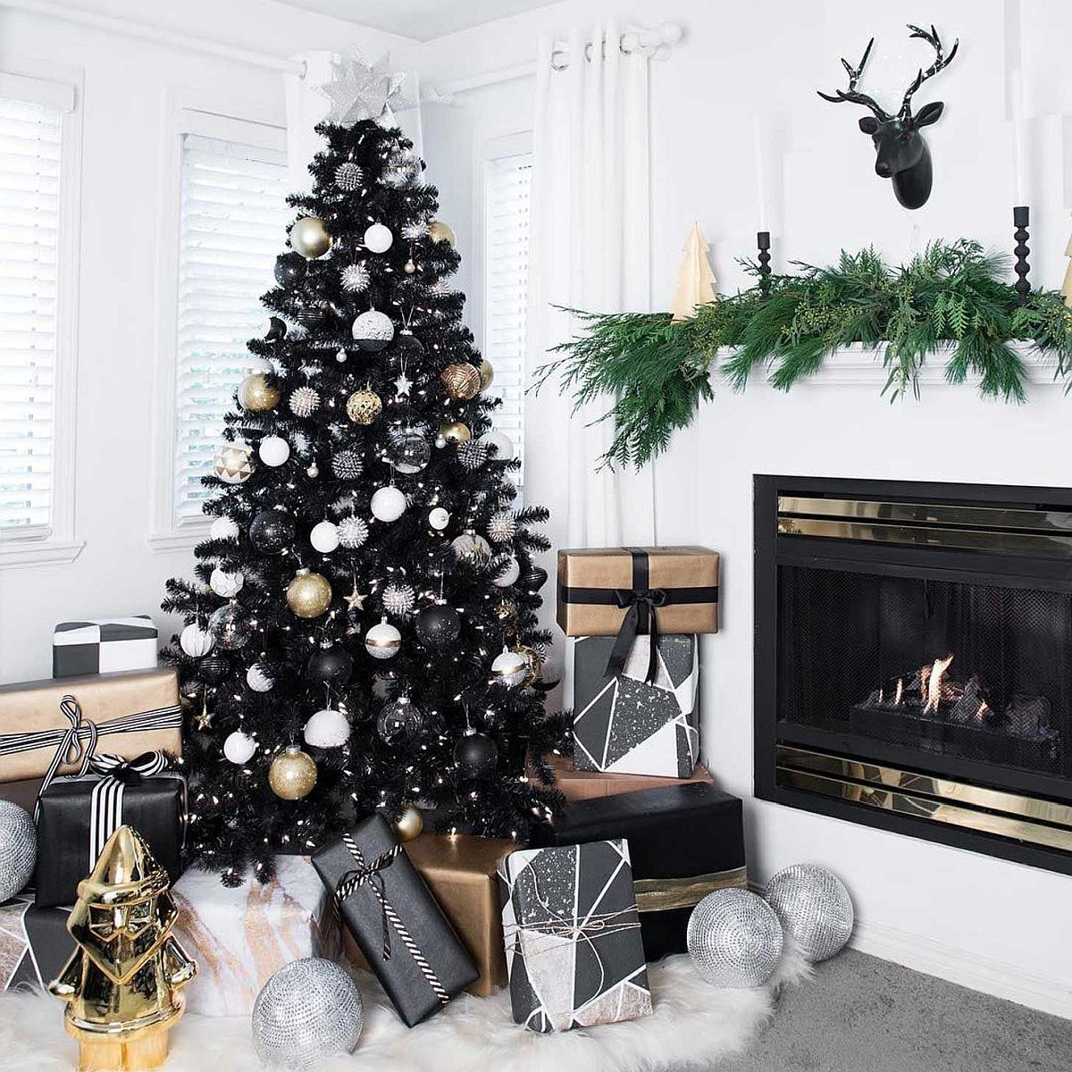 Black Is The New Festive Black Christmas Trees Steal The Spotlight
