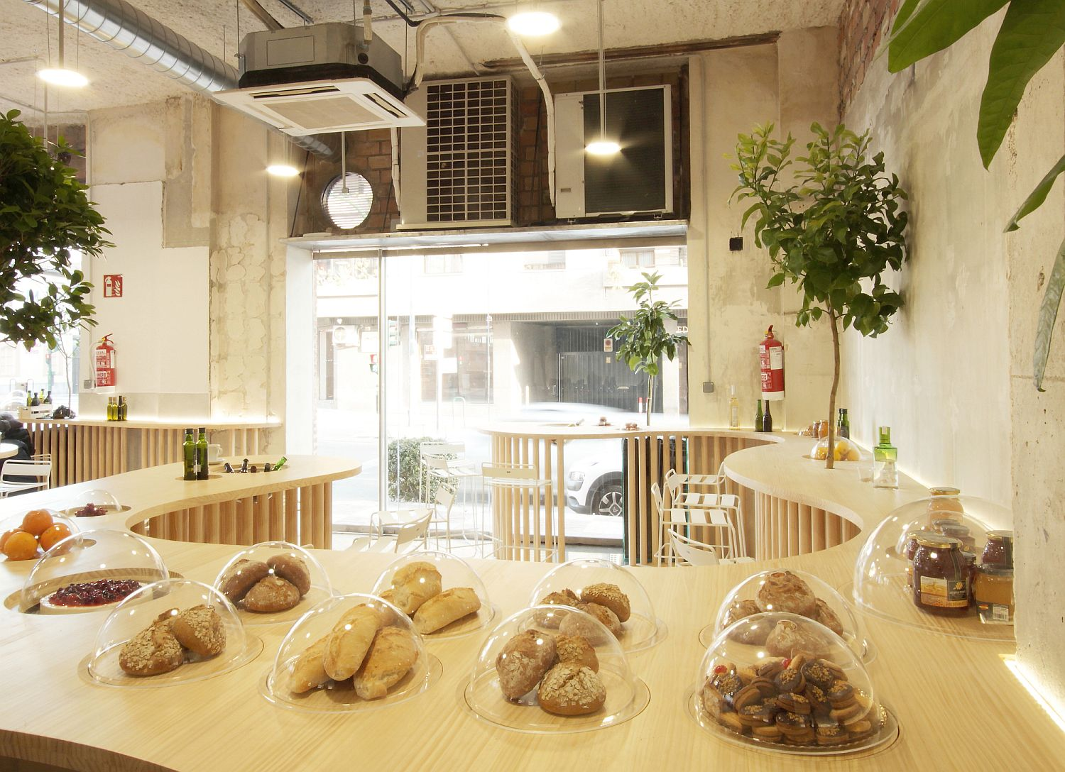 Design of the restaurant makes most of the limited space on offer inside the revamped structure