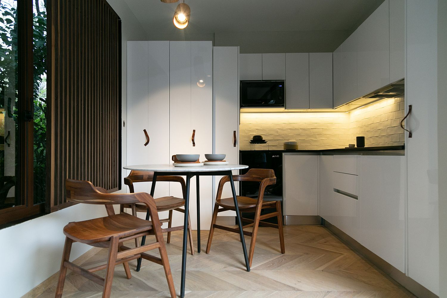 Efficient and minimal design inside the home cuts back on wastage of resources